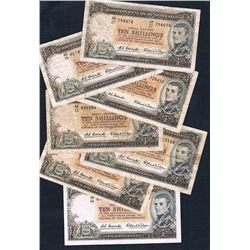 Australia, QEII, Ten Shillings, Coombs/Wilson, Accumulation (R.17), 1961, aFine-gVF