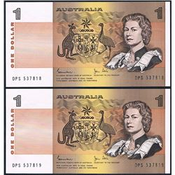 Australia, QEII, One Dollar, Johnston/Stone (R.78), 1982, Last Prefix, DPS/537818-9, vUnc