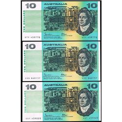 Australia, QEII, Ten Dollars, Johnston/Fraser, 1985 (R.309), EF-aUnc