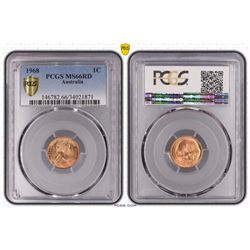 Australia, QEII, One Cent, 1968, PCGS MS66RD