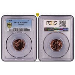 Australia, QEII, Two Cents, 2016, PCGS MS69RD