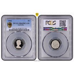 Australia, QEII, Proof Five Cents, 1966, PCGS PR69DCAM