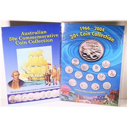 Australia, QEII, Uncirculated Twenty - Fifty Cents Coin Collection, 1966-2004