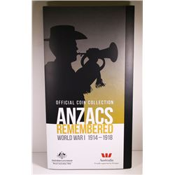 Australia, QEII, Uncirculated Twenty Cents, Anzacs Remembered Collection, 2015
