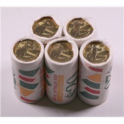 Australia, QEII, One Dollar, Bicentennial Mint Roll, 1988