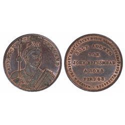 New Zealand, Christchurch, Milner & Thompson Penny Trade Token, 1881 (A.382), aEF