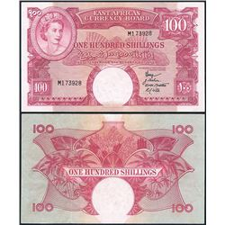 East Africa, Currency Board, QEII, One Hundred Shillings (P.40a), 1958-60