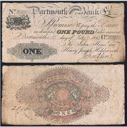 Great Britain, Dartmouth General Bank, One Pound (O.639a), 1823, aFine