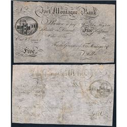Great Britain, Fort Montage Bank, Five Halfpence, Skit Note, c.1800's, VF