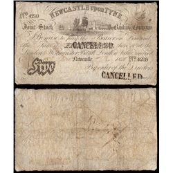 Great Britain, Newcastle Upon Tyne, Join Stock, Five Pounds (O.1515b), 1838, aFine