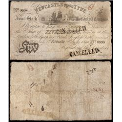 Great Britain, Newcastle Upon Tyne, Join Stock, Five Pounds (O.1515b), 1840, Fine
