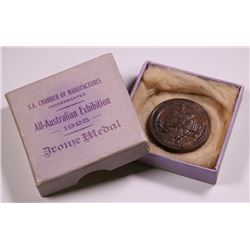 South Australia Chambers Of Manufacturers Inc Bronze Medallion, 1925 - Boxed
