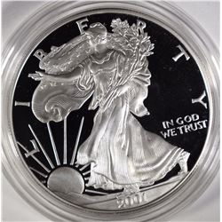 2001 Proof Silver American Eagle.