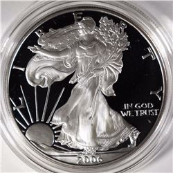 2006 Proof silver American Eagle.