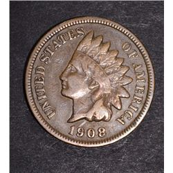1908-S INDIAN CENT VF  KEY