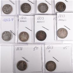 10 SEATED LIBERTY DIMES  CIRC  1891 and Older