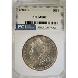 1880-S MORGAN DOLLAR PCI SUPERB GEM BU