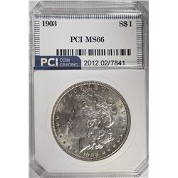 1903 MORGAN DOLLAR PCI SUPERB GEM BU