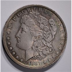 1887-O MORGAN DOLLAR CH/GEM BU NICLEY TONED