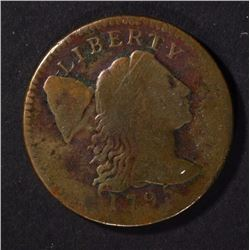 1795 LIBERTY CAP LARGE CENT, VG+