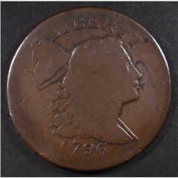1796 LIBERTY CAP LARGE CENT, G+ NICE PLANCHET
