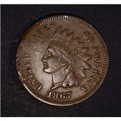 1867 INDIAN CENT, XF