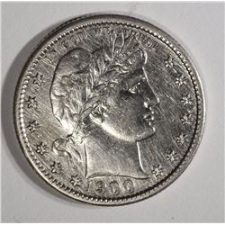 1900-S BARBER QUARTER AU CLEANED