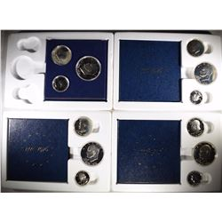 4 - 1976 3pc SILVER PROOF SETS
