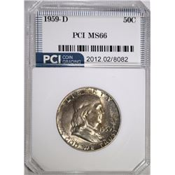 1959-D FRANKLIN HALF DOLLAR PCI SUPERB