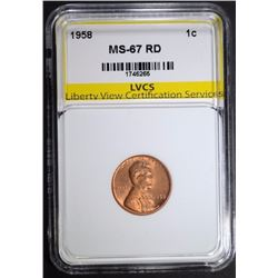 1958 LINCOLN CENT LVCS SUPERB GEM