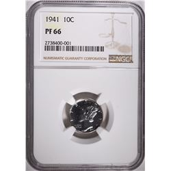 1941 MERCURY DIME, NGC PROOF-66 SUPER