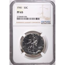 1941 WALKING LIBERTY HALF DOLLAR, NGC PF-65