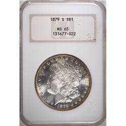 1879-S MORGAN DOLLAR, NGC MS-65 GEM