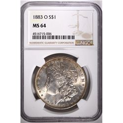 1883-O MORGAN DOLLAR, NGC MS-64