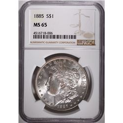 1885 MORGAN DOLLAR, NGC MS-65