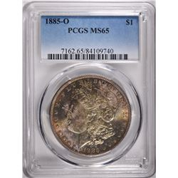 1885-O MORGAN DOLLAR, PCGS MS-65 GEM