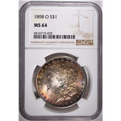 1898-O MORGAN DOLLAR, NGC MS-64