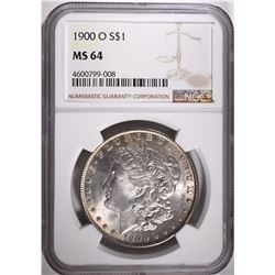 1900-O MORGAN DOLLAR, NGC MS-64
