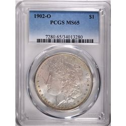 1902-O MORGAN DOLLAR, PCGS MS-65