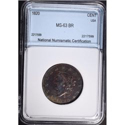 1820 LARGE CENT NNC CH BU BR