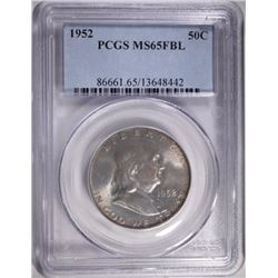 1952 FRANKLIN HALF $ PCGS MS65FBL