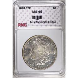 1878 8TF MORGAN DOLLAR RNG GEM BU
