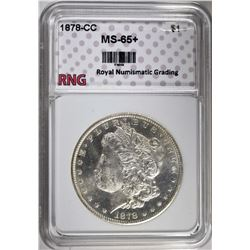 1878-CC MORGAN DOLLAR RNG GEM BU+