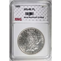 1899 MORGAN DOLLAR RNG GEM BU PL