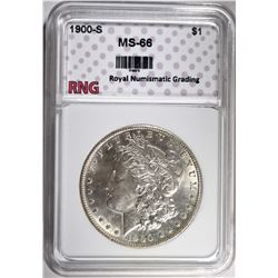1900-S MORGAN DOLLAR RNG SUPERB GEM