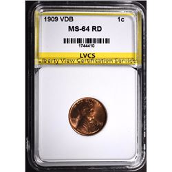 1909 VDB LINCOLN CENT LVCS CH/GEM BU RD