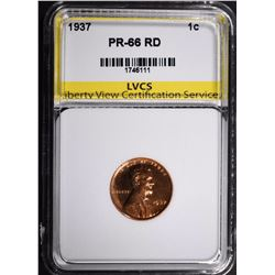1937 LINCOLN CENT LVCS SUPERB GEM PROOF