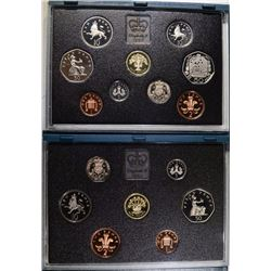 1991 & 1992 UNITED KINGDOM PROOF SETS