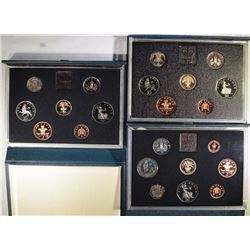 1884, 1885, 1887 UNITED KINGDOM PROOF SETS