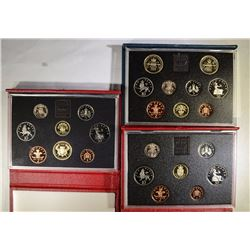 1986, 1988, 1989 UNITED KINGDOM PROOF SETS